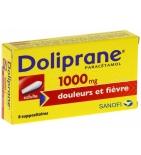 Doliprane 1000 mg Paracetamol - 8 suppositoires