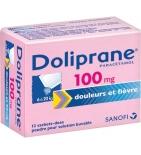 Doliprane 100 mg - 12 sachets