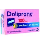Doliprane 100 mg - 10 suppositoires