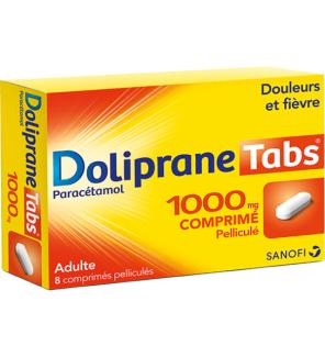 sanofi doliprane tabs 1000 mg 8 comprim233s jevaismieuxmerci