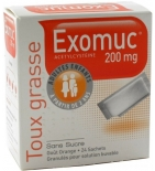 Exomuc Toux Grasse 200 mg - 24 sachets