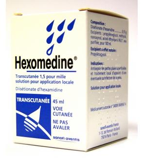 Hexomedine Transcutanée 1,5 pour 1 000 - Solution pour ...