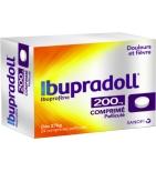 Ibupradoll 200 mg Ibuprofène - 24 Comprimés Pelliculés