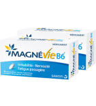 Magnevie B6 100 mg Magnesium - Lot de 2 x 60 comprimés de 10 mg
