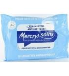 Lingettes désinfectantes Mercryl Soins - 15 lingettes