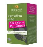 CHEUVEUX - Keratine Men - Santé et Volume pour Hommes - Lot de 3 x 40 gélules + Sérum Anti-Chute
