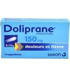 Doliprane 150 mg - 10 suppositoires