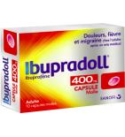 Ibupradoll 400 mg Ibuprofène - 10 Capsules Molles