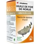 ARKOGELULES - Huile de Foie de Morue - Source de Vitamines A et D - 220 capsules