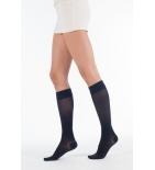 DOUCEUR - Chaussettes de Contention Classe 2, Taille 1+, Court - Noir