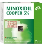 MINOXIDIL - 5 % - Chute de Cheveux Modérée 60 ml - 3 flacons