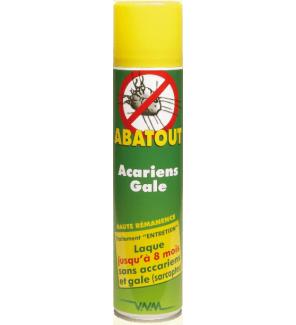 Laque anti acariens et gale 300 ml - Bombe anti acarien ...