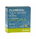 Fluimicil Toux Grasse Acetylcysteine Adulte 200 mg -18 sachets
