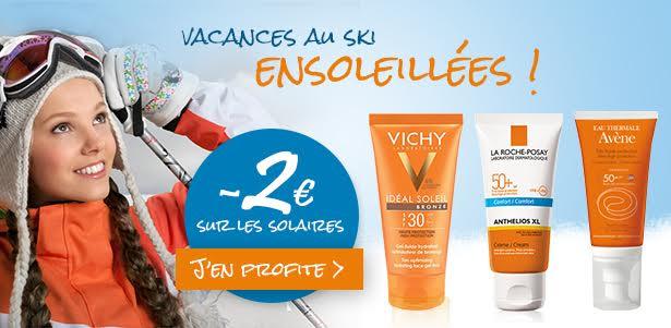 Solaire Hiver : Vichy, La Roche Posay, Avene