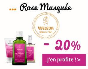 Gamme Rose Musquée de Weleda -