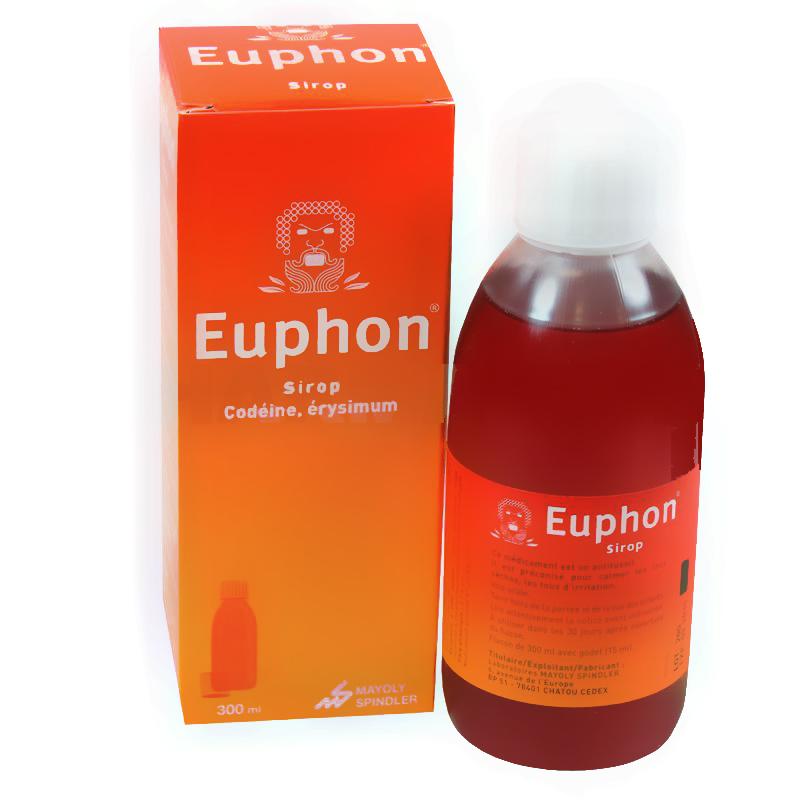 Prix Euphon sirop adultes - Flacon de 300ml - Mayoly Spindler