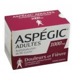 Aspégic 1000 mg adultes - 20 sachets en poudre à diluer