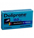 Doliprane 150 mg - 10 suppositoires