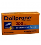 Doliprane 200 mg - 10 suppositoires