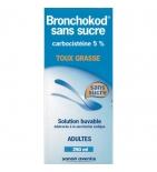 Bronchokod Adulte Carbocistéine 5% - Sirop sans sucre - 250 ml