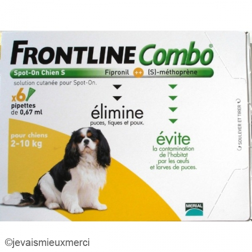 Frontline frontline anti puces combo chien 2 10 kg 6 - Frontline combo chat 6 pipettes ...