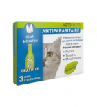 Anti-puces Antiparasitaires Chats, chatons - 3 pipettes