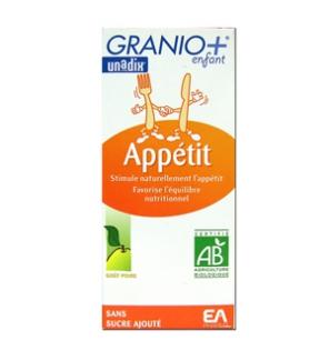 GRANIO + - Sirop Enfant Appétit Bio - 125 ml