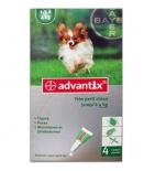 Advantix Anti-Puces 'très petit chien jusqu'à 4 kg' - 4 pipettes de 0.4 ml
