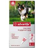Advantix Anti-Puces 'Chien moyen 10-25 Kg' - 4 pipettes de 2.5 ml