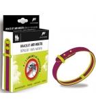 Bracelet Anti-Insectes Prune/Vert Anis