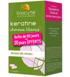 KERATINE - Cheveux blancs - Pack de 3 x 40 gélules