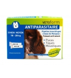 Anti-puces Antiparasitaires Chiens 10-20 kg  - 2 pipettes